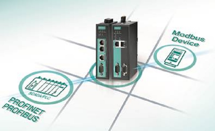 Moxa launches protocol gateways to connect Modbus devices to PROFINET networks