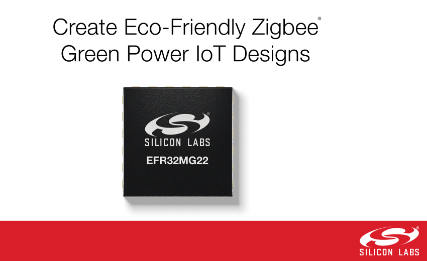 New wireless SoCs enable eco-friendly Zigbee Green Power IoT devices