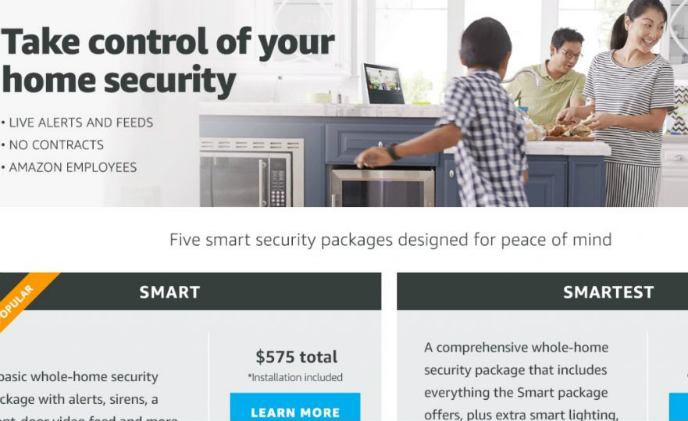 Amazon launches home security kits with installation service