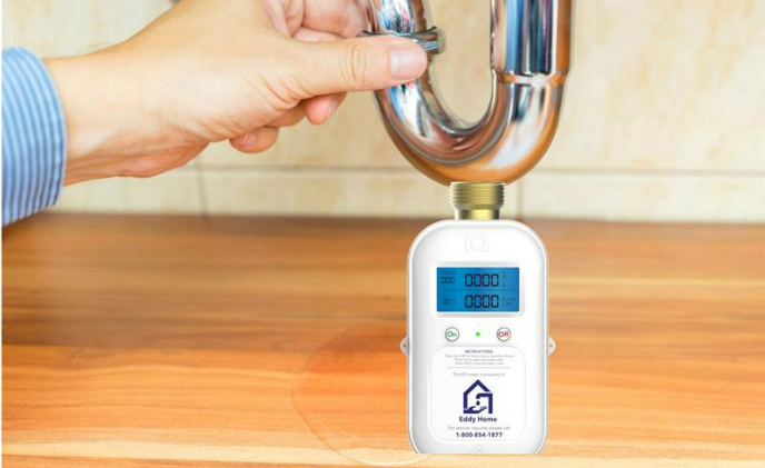 Eddy Home's smart meter monitors water use in households and protects against floods and leaks