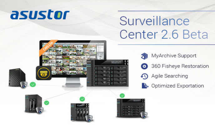 ASUSTOR launches Surveillance Center 2.6 Beta