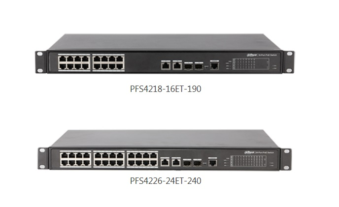 Dahua launches 16/24 port PoE switches
