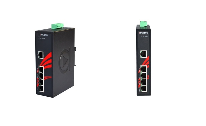 Antaira Technologies extends 5-port PoE+ gigabit unmanaged switch line