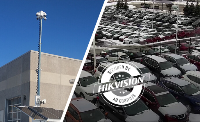 Hikvision off grid platform secures Ontario car dealership