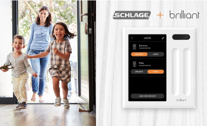 Brilliant and Schlage announce integration for seamless smart home