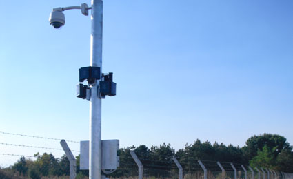 Raytec IR illuminators deployed in Macedonia Airport with PTZ speed dome