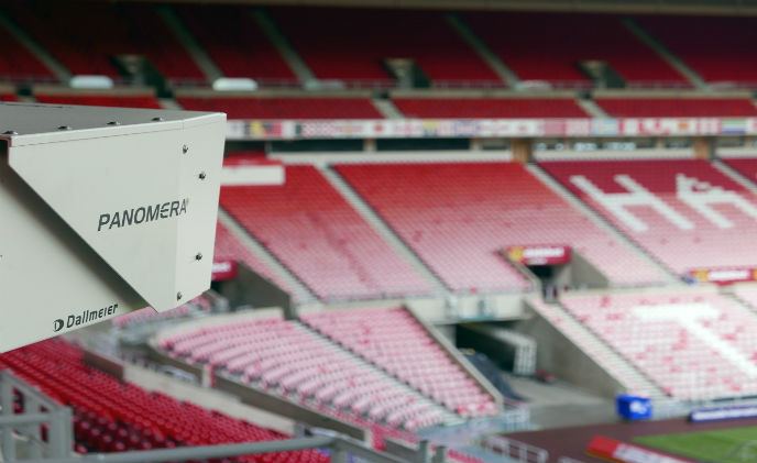 Multifocal sensor system Panomera in the Sunderland Stadium of Light