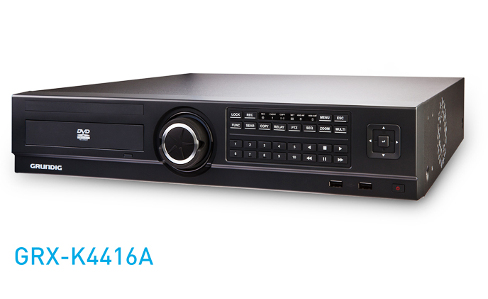 Grundig's versatile EX-SDI hybrid DVR works with EX-SDI, HD-SDI, 960H and 760H camera technologies