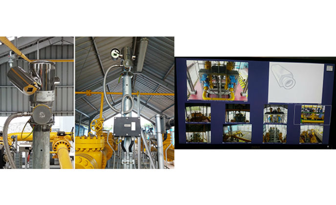 MAXIMUS FULL HD PTZ used in a meter and regulation station in Indonesia