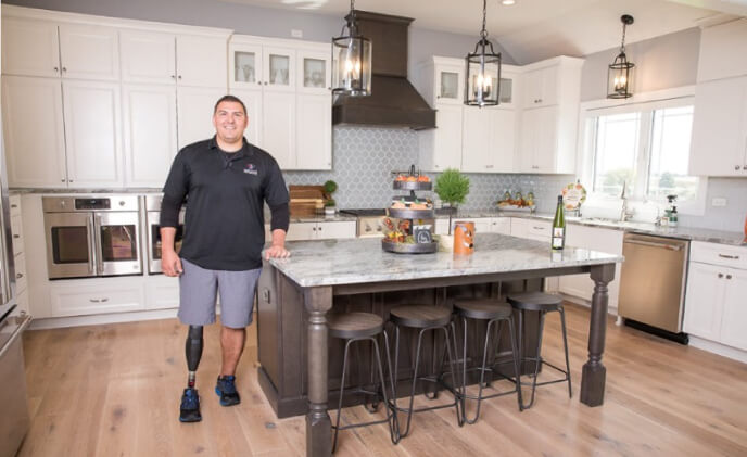 Gary Sinise Foundation honors Marine Corps CPL veteran with a new smart home