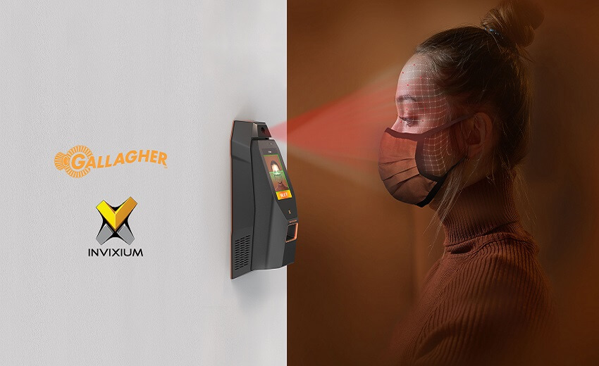Invixium integrates with Gallagher for contactless biometric temperature and mask detection