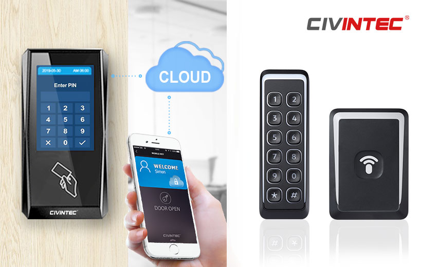 Civintec introduces new IP access control terminal and reader with RFID and mobile access