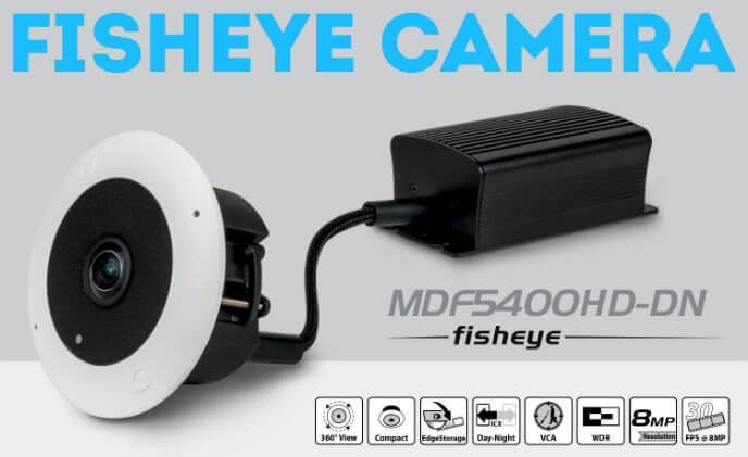 Dallmeier MDF5400HD-DN IP fisheye camera with discreet 360° all-round vision