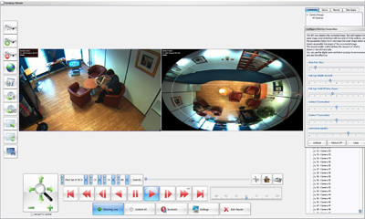 Synectics management software integrates AMG fisheye cam