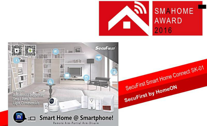 SMAhome Award 2016 finalist: SecuFirst by HomeON's Smart Home Connect offers hands-on experience and ease of use