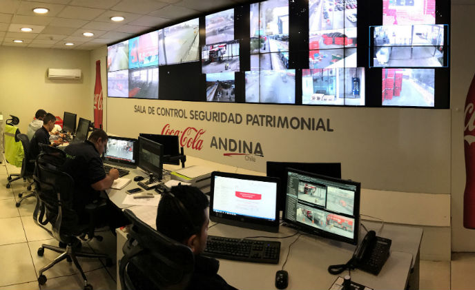 Coca-Cola Andina of Chile protected by Milestone