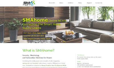 SMAhome – A new zone to be launched at Secutech 2014