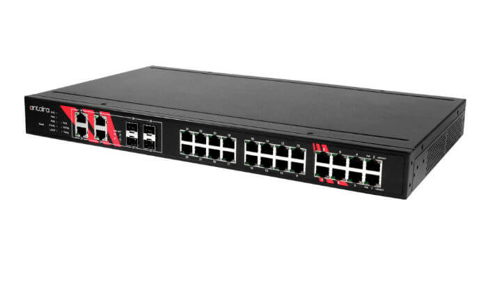 Antaira Technologies launches LNP-2804GN-SFP-T managed Ethernet switch