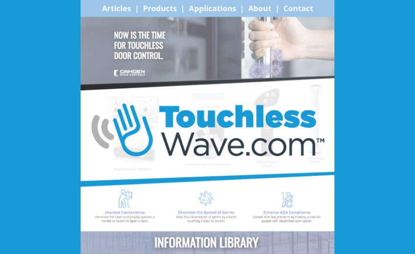 Camden launches its new touchlesswave.com site