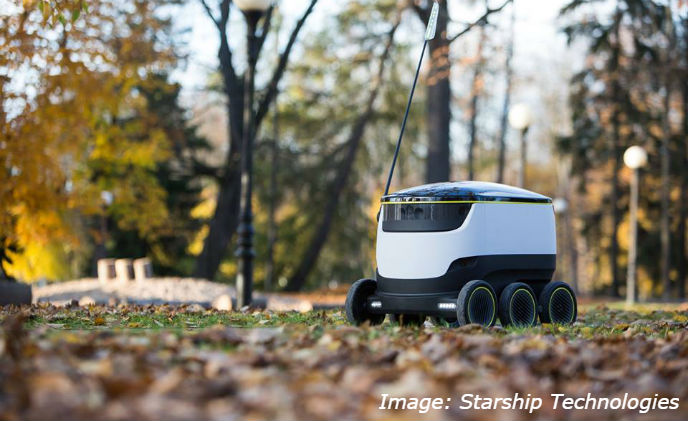 Autonomous robots to improve the final leg of delivery