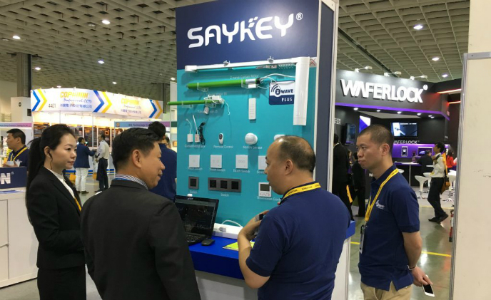 Saykey launches new Z-Wave curtain motor at 2018 SMAhome Expo