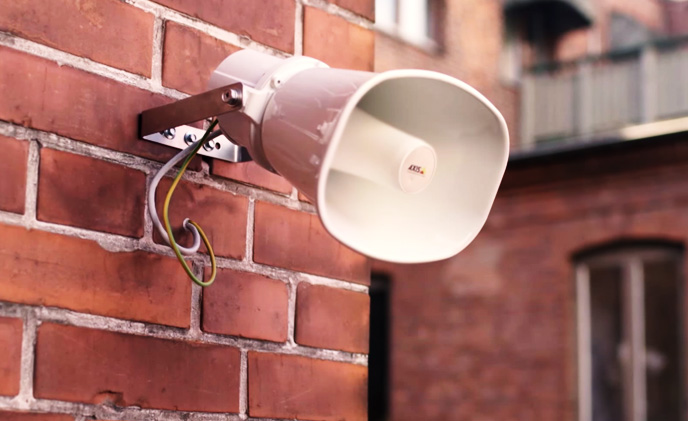 Axis introduces network loudspeaker for remote speaking in video surveillance applications
