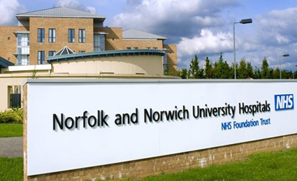 TDSi guards the gate of Norfolk and Norwich Uni Hospital
