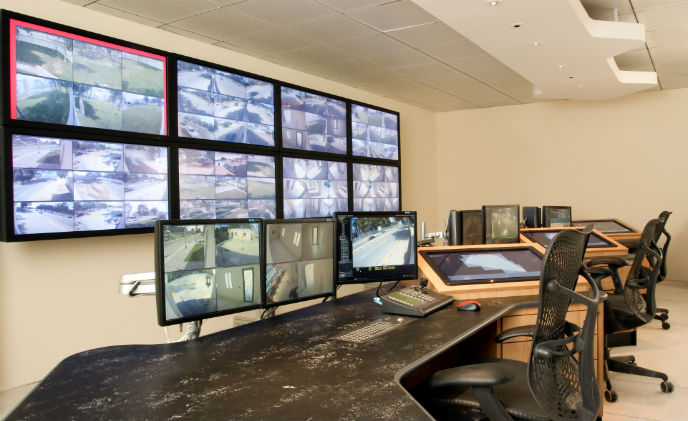 CalAtlantic's command and operation center protected by Aimetis