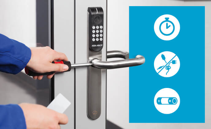 ASSA ABLOY Aperio extends any electronic access control with no cables