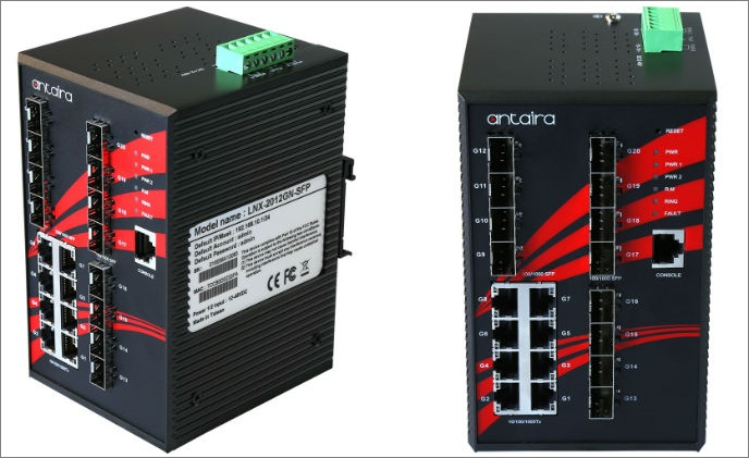 Antaira launches 20-port industrial Gigabit Ethernet switches
