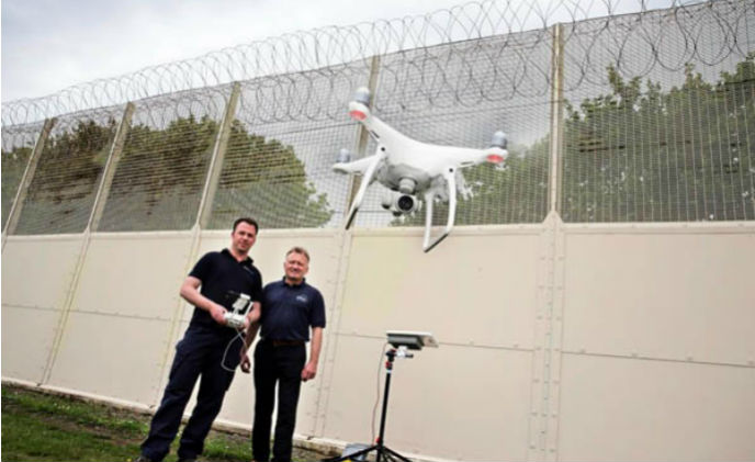 Prison drones pioneers introduce government to perimeter savings