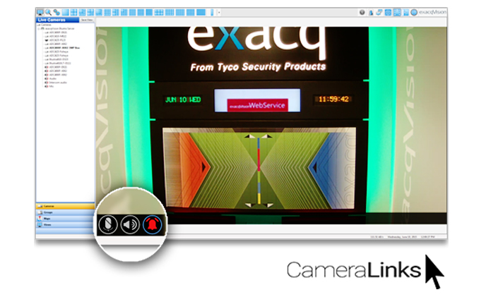 Exacq Technologies introduces camera links for faster response time to critical alarms and events
