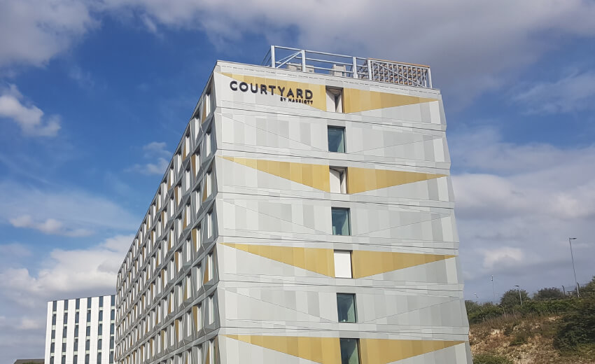 Courtyard by Marriott gets cybersecure video protection with IDIS