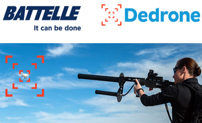 Battelle's DroneDefender joins forces with Dedrone