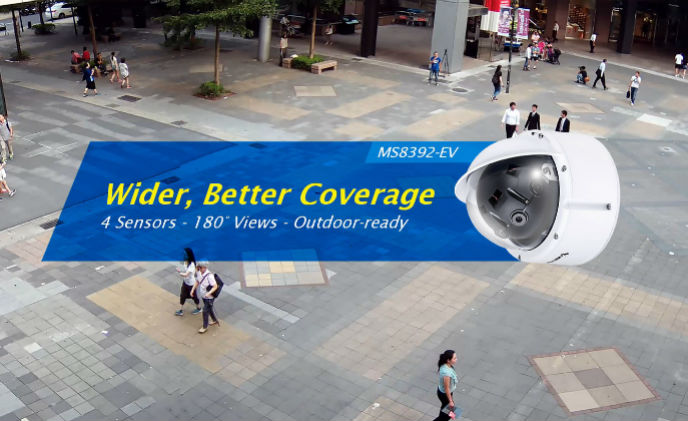 VIVOTEK adds new multiple-sensor vandal dome MS8392-EV