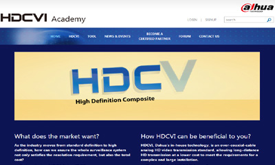 Dahua HDCVI Academy provides a gateway for partnership and information