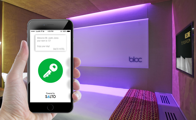 SALTO and BLOC's smartphone innovation heralds UK's first keyless hotel
