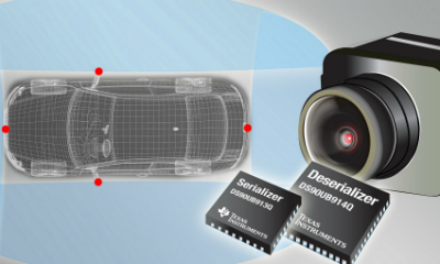 TI FPD-Link III Chipset Streamlines Video and Data Interface for Megapixel Driver Assist Cameras