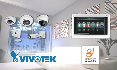 Vivotek IP cams integrated with Elan home automation and A/V systems