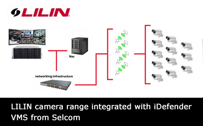 LILIN IP camera range integrated with iDefender VMS from Selcom