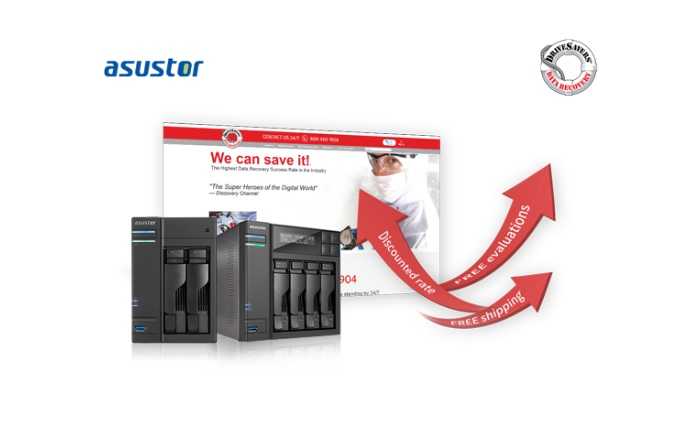 ASUSTOR partners with DriveSavers to provide users with data recovery service