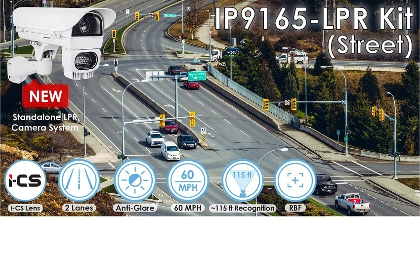 VIVOTEK launches new street monitoring IP9165-LPR license plate recognition camera kit solution