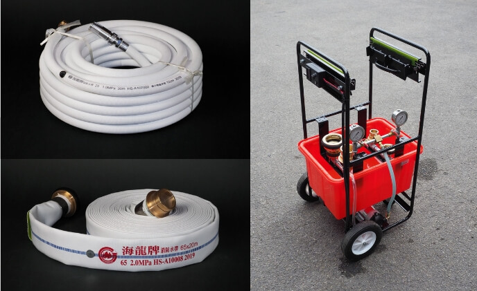 So Chiao Industry fire hoses and pressure testers
