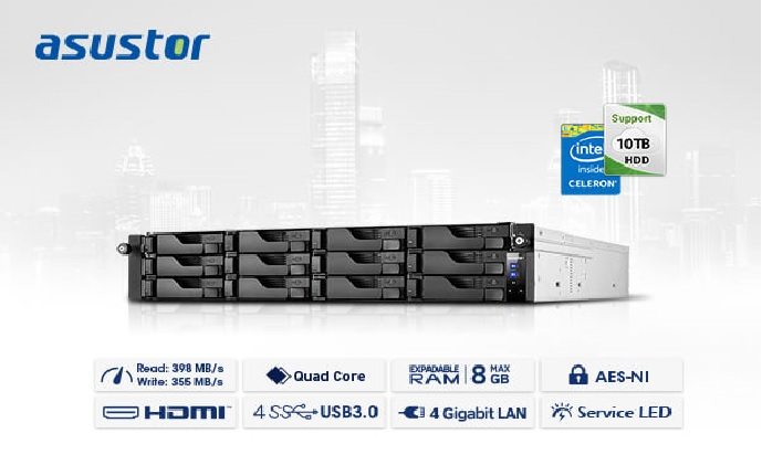 ASUSTOR launches the enterprise-class high capacity AS6212RD