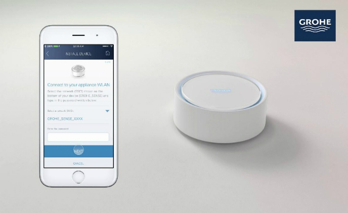 Grohe's water monitoring system detects leaks and cuts off water supply