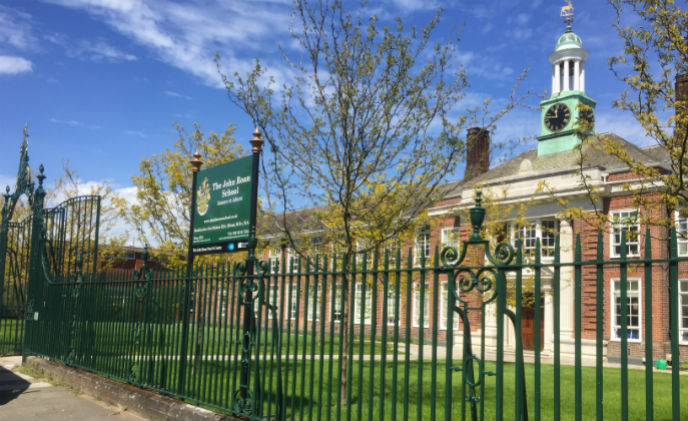 Net2 biometric integration secures access control at John Roan School