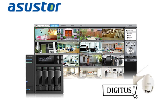 ASUSTOR completes integration with Digitus IP cameras