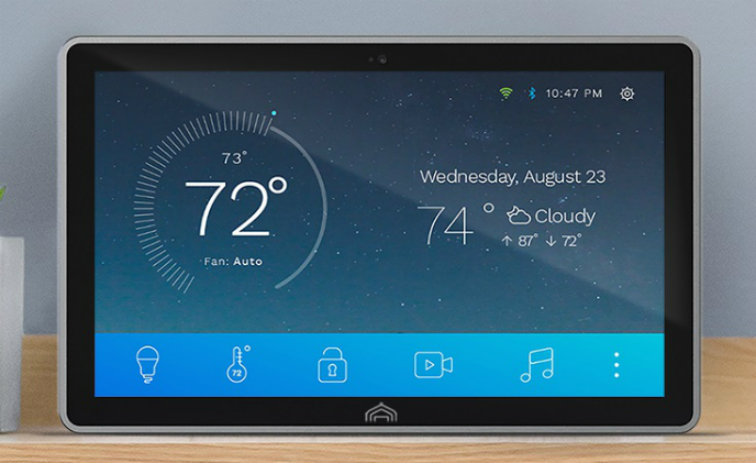 Smart home hub Atmos featuring touchscreen enters the market