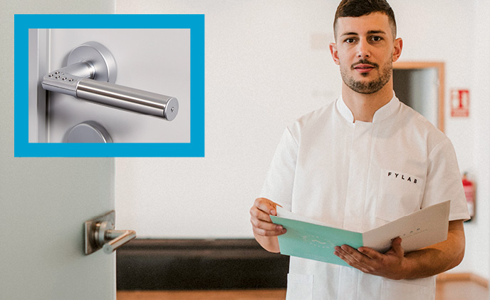 Code Handle protects a physiotherapy practice with PIN-operated handles