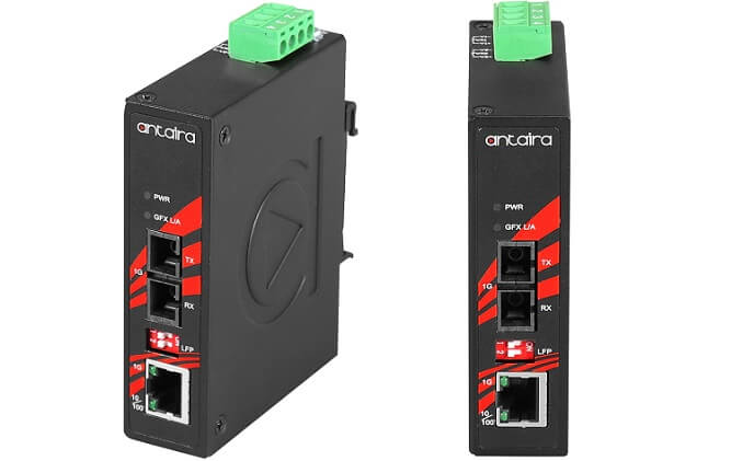 Antaira launches industrial compact Gigabit media converter with fixed fiber